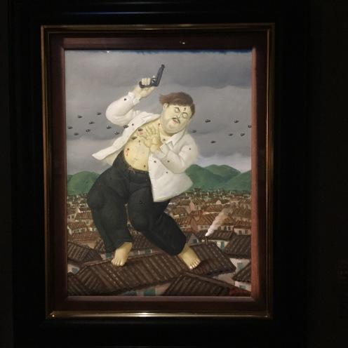 """""""La muerte de Pablo Escobar"""" Botero 1999"""