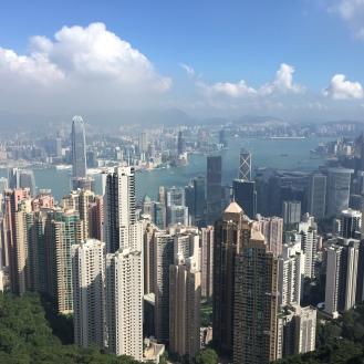 Il panorama sui grattacieli di HK